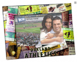 Oakland A's 4x6 inch Picture Frame, Ticket Collage Style